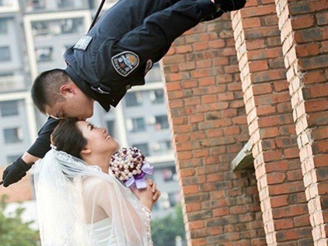 Você não vai acreditar em como este casal tirou as fotos do casamento!
