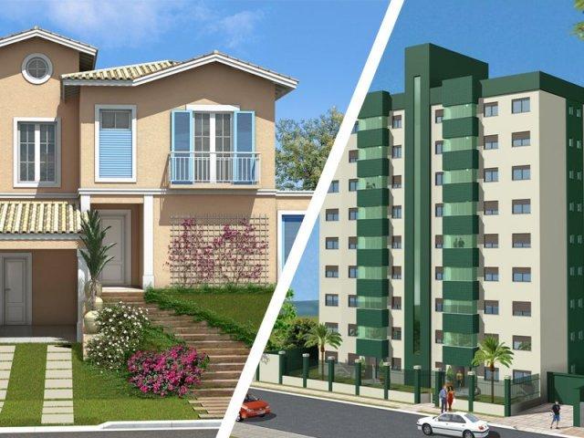 Você combina mais com casa ou apartamento?