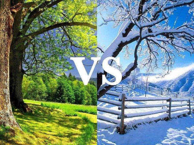 Você é mais verão ou inverno?