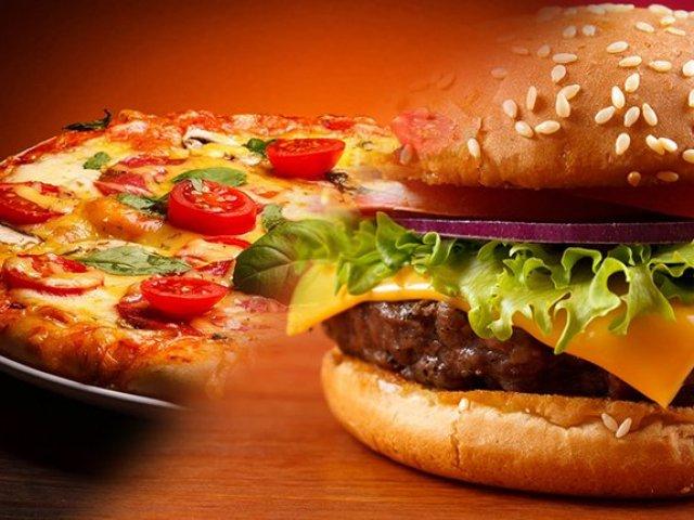 Qual combina mais com você: pizza ou hambúrguer?