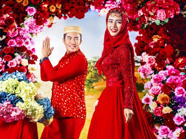 Como seria o seu vestido de noiva muçulmano?