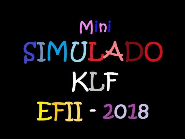 K.L.F. - 2018 mini-simulado (A Nível de Ensino Fundamental II)