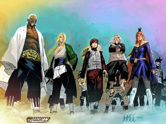 Quarta guerra ninja Parte 5 Os 5 Kages!